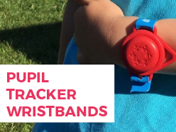 Pupil tracker wristbands - exclusive to NST!